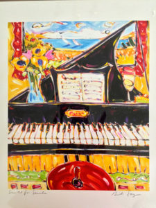 piano painting for silent auction