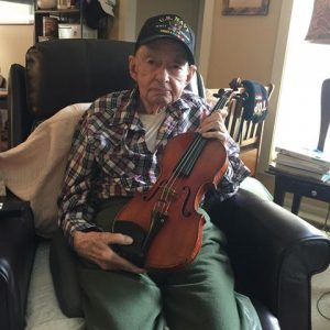 Dale Bryan with violin